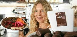 Gemma with her chocolate