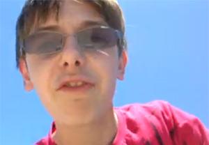 Bradley in a self-video