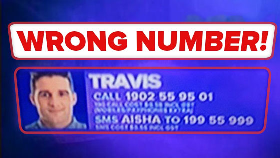 Umm… that's not Travis' phone number